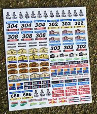SLOT CAR SCALEXTRIC SCX DAKAR style RALLY 1/32nd sponsor logo stickers decals