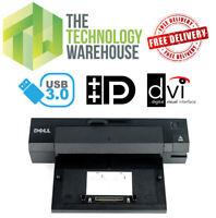 Dell PR02X Docking Station E-Port Plus Port Replicator USB 3.0 + DVI + DP + VGA