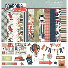 Scrapbooking Crafts PhotoPlay 12X12 Paper Boarding Pass Hot Air Balloons Travel