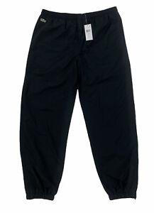 NEW Lacoste Sport Croc Mens Polyester Track Pants Black Mens Size 7 / 2XL XH120T