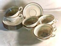 8 Lenox Charmaine Cups And Saucers