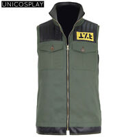 Frank Iero Fun Ghoul Cosplay Costume Green Vest Chemical Romance Costume