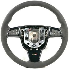 2009-2015 Cadillac Cts-V Steering Wheel Automatic Black Suede Black Stitching (Fits: Cadillac Cts)