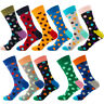 Match-Up Men's Color Business Socks Cotton Socks Dot Style Novelty Socks 1 Pair