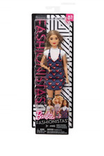 Barbie Fashionistas Bambola con Tutina Floreale 30cm - Mattel Fbr37 Fjf38