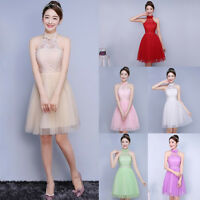 Formal Women Lace Short Dress Prom Evening Party Cocktail Bridesmaid Wedding