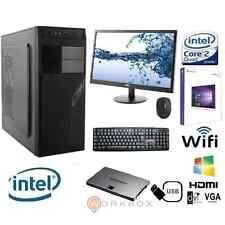 "PC DESKTOP INTEL QUAD CORE WINDOWS 10 PRO 8GB 1TB WIFI MONITOR 22""TASTIERA MOUSE"