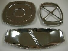 Doehler-Jarvis National Lead Co Chrome Decorative Serving Platter Tray Dish 3 PC