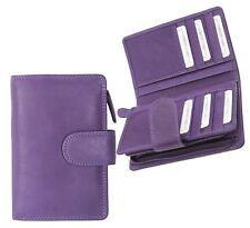 Alva Ladies Soft Purple Leather Tab Purse Purple Leather Purse NEW