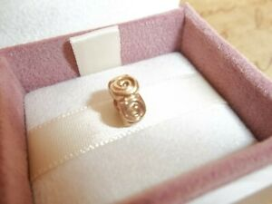 Genuine Authentic Pandora 14ct Solid Gold Roses Charm 750120 585 ALE - RARE