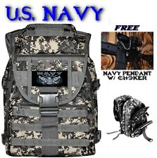 U.S. NAVY Camo Tactical Backpack MOLLE Military Duty Bag + FREE SHIPPING & GIFT