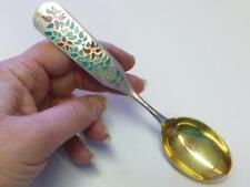 1955 POINTSETTIA A MICHELSEN Enamel 925S Sterling Silver CHRISTMAS Spoon XMAS