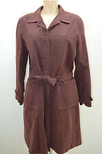 ETAM IMPER MANTEAU COAT MARRON FEMME TAILLE 42 T42 XL