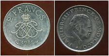 MONACO 2 francs 1981  ( bis )