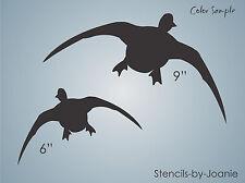 STENCIL Flying Mallard Duck Outdoor Marsh Bird Watch Hunt Nature Art Signs
