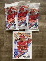 2020-2021 TOPPS SERIES 1 BASEBALL BLASTER BOX and 3 Fat Packs Lot MLB Acuna Jr.