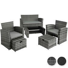 Salon de jardin mobilier en résine tressée fauteuils canapé et table