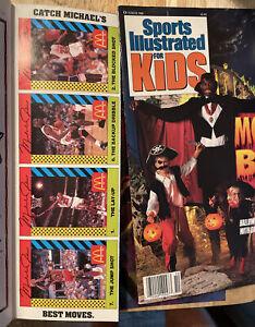 MICHAEL JORDAN 🔥 1990 SI for Kids Sports Tips 4 Card Lot UNCUT SHEET w/ Mag 🔥