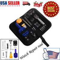 13PCS Watch Repair Tool Kit Opener Link Remover Spring Bar Tool Carrying Case