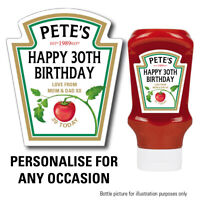 Personalised Tomato Spoof ketchup bottle label, Perfect Birthday Gift 142