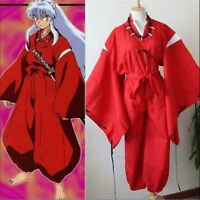 Anime Inuyasha Vestito Carnevale Inu Yasha Kimono Suit Halloween Cosplay Costume