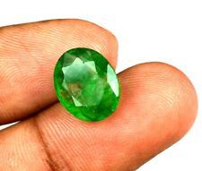 4.90 Ct Natural Oval IGL Certified Zambian Emerald Loose Gemstone