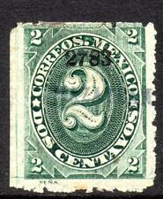Mexico 1882 Foreign Mail Small Numeral 2¢ Green Mazatlan MX59