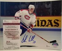 John LeClair Signed Montreal Canadiens 8x10 Photo Insc JSA Witnessed COA