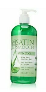 Satin Smooth Satin Cool Aloe Vera Skin Soother Gel, 16 fl oz 16 Fl Oz, 1-Pack