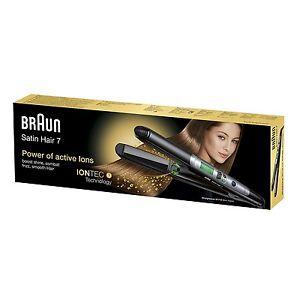 Braun Fer à Lisser à Cheveux Professionnel Satin 7 ES2 Avec Tech Lónica Nouveau