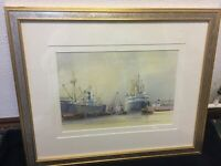 ORIGINAL MARINE WATERCOLOUR BY D J HANCERI