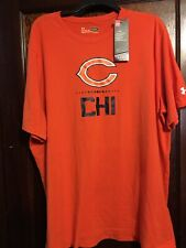 under armour Chicago BEARS Heatgear T-shirt Mens 3XL NWT