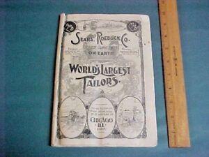 ANTIQUE 1870's SEARS, ROEBUCK & CO. WORLD'S LARGEST TAILORS CATALOG ~ SUPER RARE
