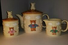 1986 Lucy & Me Bear, Enesco Tea set, Vintage