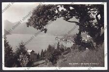 BRESCIA SULZANO 05 LAGO d'ISEO Cartolina VIAGGIATA 1941 REAL PHOTO