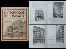 LA TECHNIQUE DES TRAVAUX n°2 1940 PARIS, 143 BD MONTPARNASSE, ECOLE BERTHIER