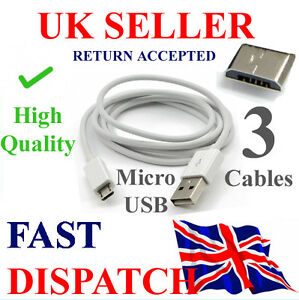 3 x Micro USB Charger Cable for Samsung Galaxy S1 S2 S3 S4 Note blackberry HTC