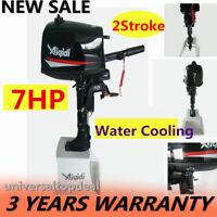 2Stroke 7HP Outboard Boat Motor Engine Water Cooling Manual Tilt Short Shaft UPS