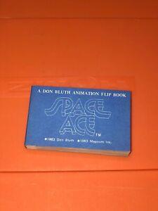 VTG Magicom Don Bluth Animation Flip Book Space Ace Cartoon Blue Cover 1983