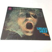Uriah Heep Very 'Eavy Very 'Umble UK 1st Press Vinyl LP Swirl Rare No Credits VG