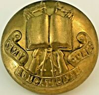 WW1 Army Educational Corps 25 mm - 1920-1946 Brass Military Uniform Button