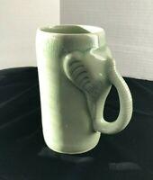 Thai Celadon Elephant Coffee Mug / Beer Mug - vintage, stoneware, awesome design
