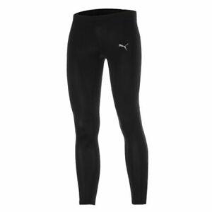 Puma PE Running Long Tight Fitness Leggings Mens Black Bottoms 509852 01 A4D