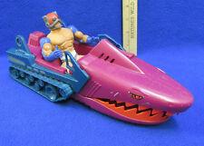 Vintage MOTU Zodac Action Figure & He Man Land Shark Vehicle Mattel Lot of 2