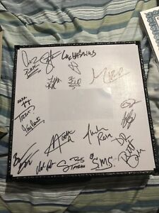AEW Unrivaled Autographed Ring with 19 Signatures Certificate of Authenticity