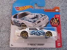 Hot Wheels 2017 #132/365 1977 Pontiac Firebird Blanco HW llamas