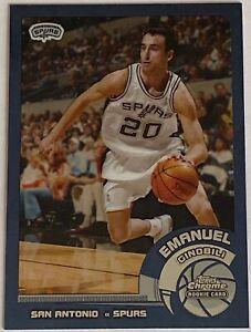 2002-03 Topps Chrome EMANUEL GINOBILI #124 Rookie Card RC SPURS