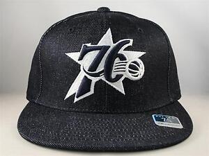 Philadelphia 76ers NBA Reebok Denim Fitted Hat Cap Size 7 1/4