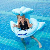 Blue Whale Kids Baby Inflatable Ring Floats Pool Water Fun Toy Beach Swimming