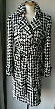 Ladies Wool coat herringbone check belted jacket belted size 14 Autumn Winter